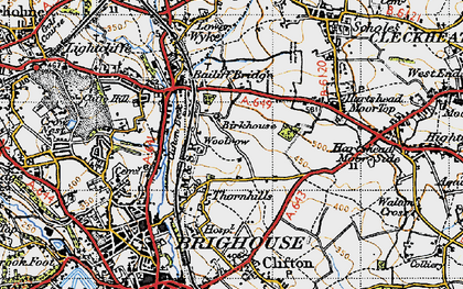 Old map of Woolrow in 1947