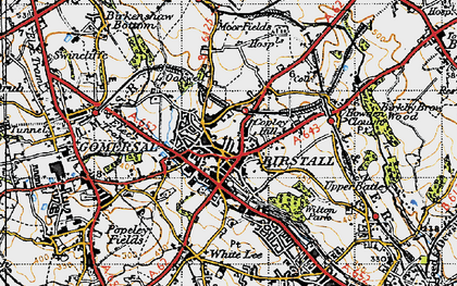 Old map of Birstall in 1947