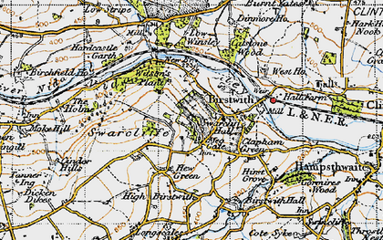 Old map of Birstwith in 1947