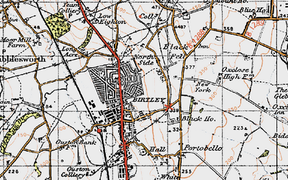 Old map of Birtley in 1947