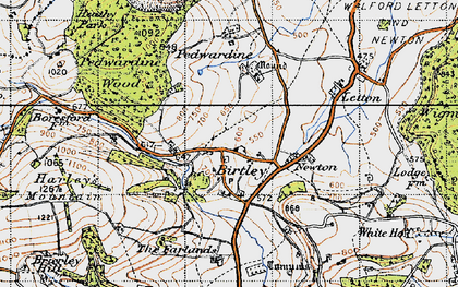 Old map of Willey Lodge in 1947