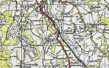 Old map of Birtley Green in 1940