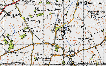 Old map of Biscathorpe in 1946