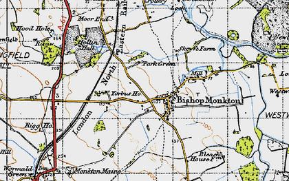 Old map of Yorbus Grange in 1947