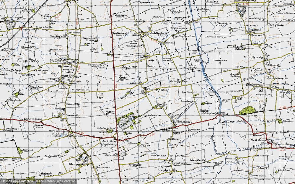 Old Map of Bishop Norton, 1947 in 1947