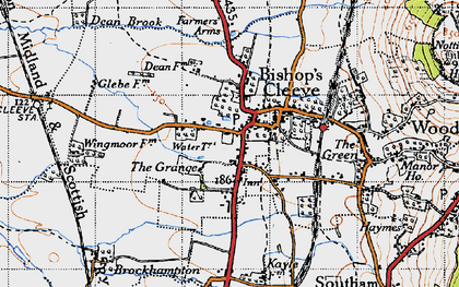 Old map of Bishop's Cleeve in 1946