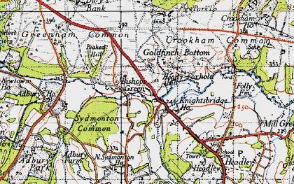 Old map of Aldern Bridge Ho in 1945