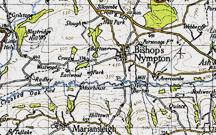 Old map of Yeo Barton in 1946