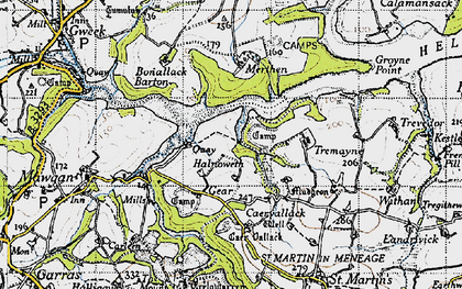 Old map of Bishop's Quay in 1946