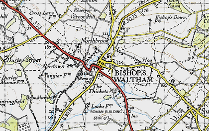 Old map of Bishop's Waltham in 1945