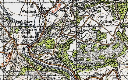 Old map of Bishop's Wood in 1947