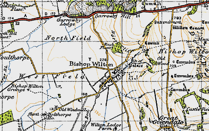Old map of Bishop Wilton in 1947