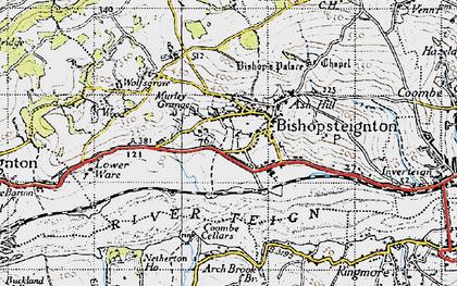 Old map of Bishopsteignton in 1946