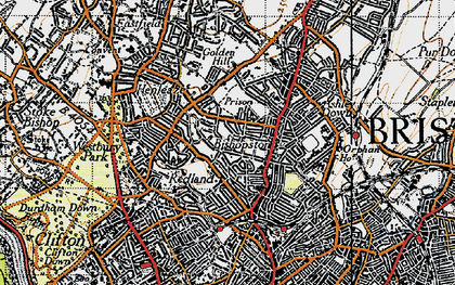 Old map of Bishopston in 1946