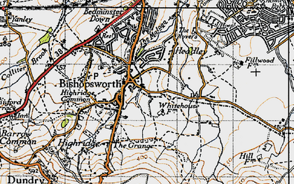 Old map of Bishopsworth in 1946