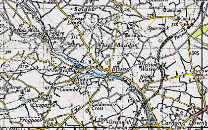 Old map of Bissoe in 1946