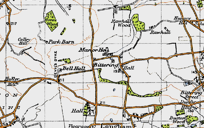Old map of Launditch in 1946