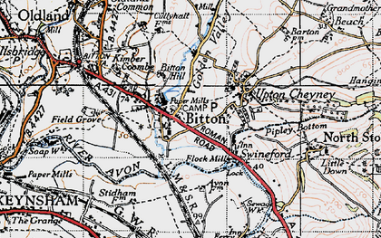 Old map of Bitton in 1946