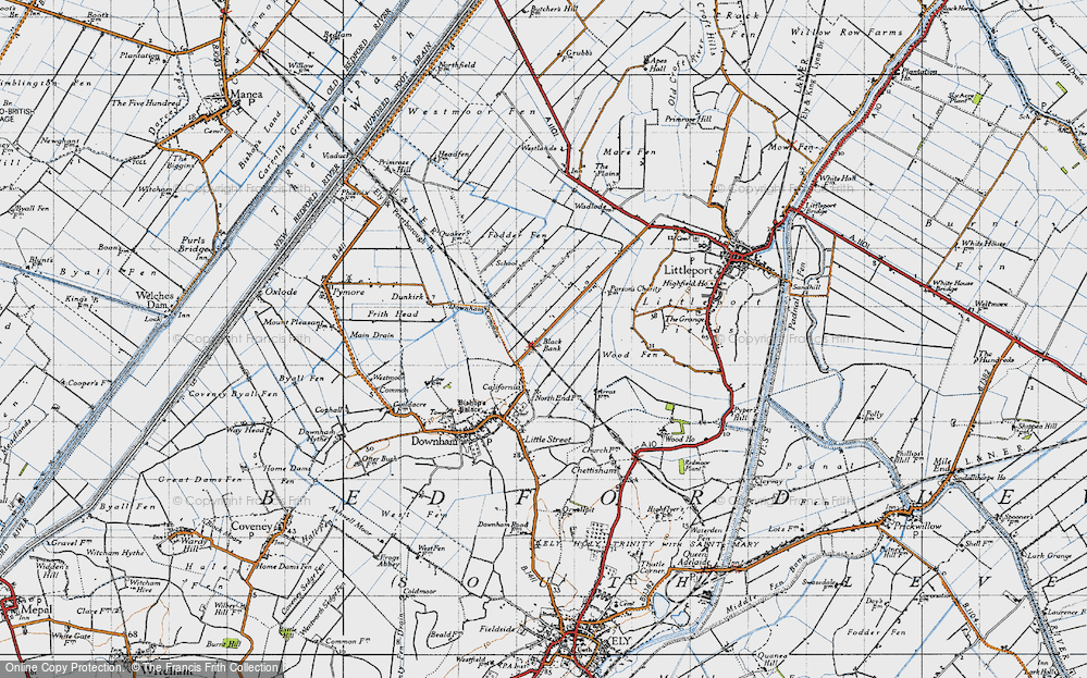 Old Map of Black Bank, 1946 in 1946