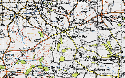 Old map of Wonham in 1946