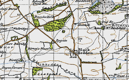 Old map of Bankfoot in 1947