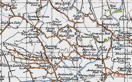 Old map of Black Pole in 1947