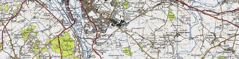 Old map of Blackbird Leys in 1947
