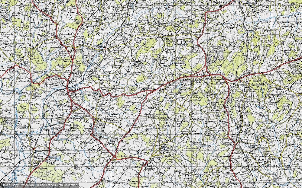 Old Map of Blackboys, 1940 in 1940