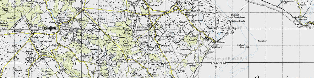 Old map of Tom's Down in 1945