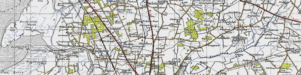 Old map of Whamtown in 1947