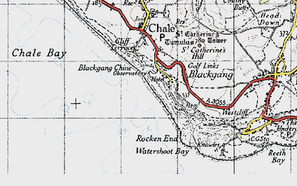 Old map of Blackgang in 1945