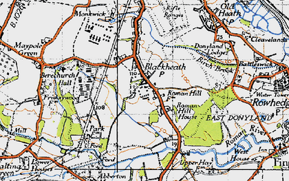 Old map of Blackheath in 1945