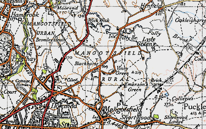 Old map of Blackhorse in 1946