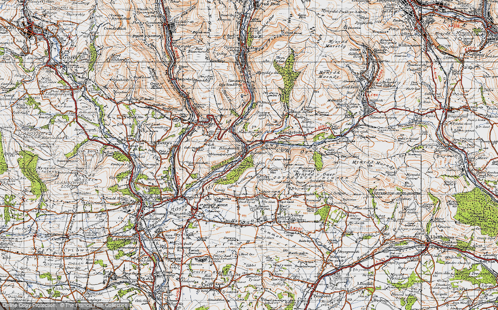 Old Map of Blackmill, 1947 in 1947