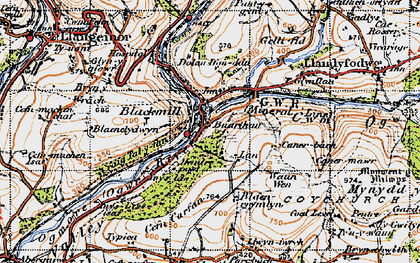 Old map of Blackmill in 1947