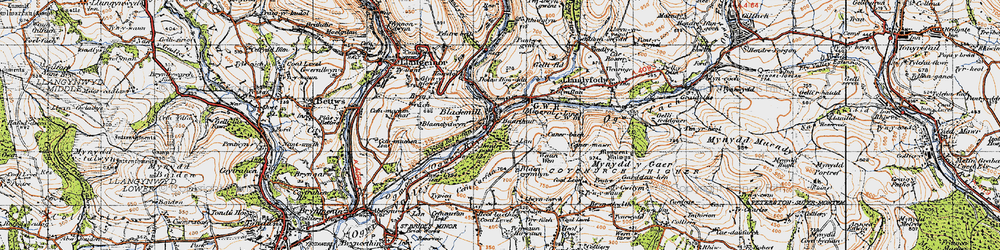 Old map of Ynyslas in 1947