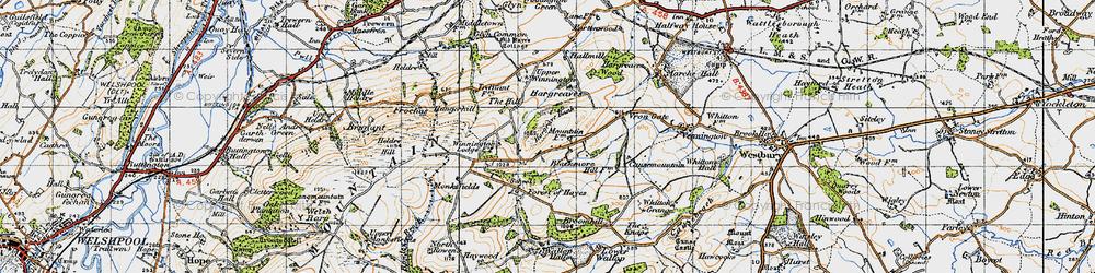 Old map of Winnington in 1947