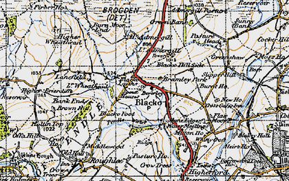Old map of Blacko in 1947