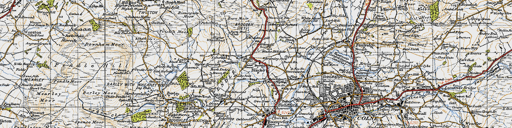 Old map of Admergill in 1947