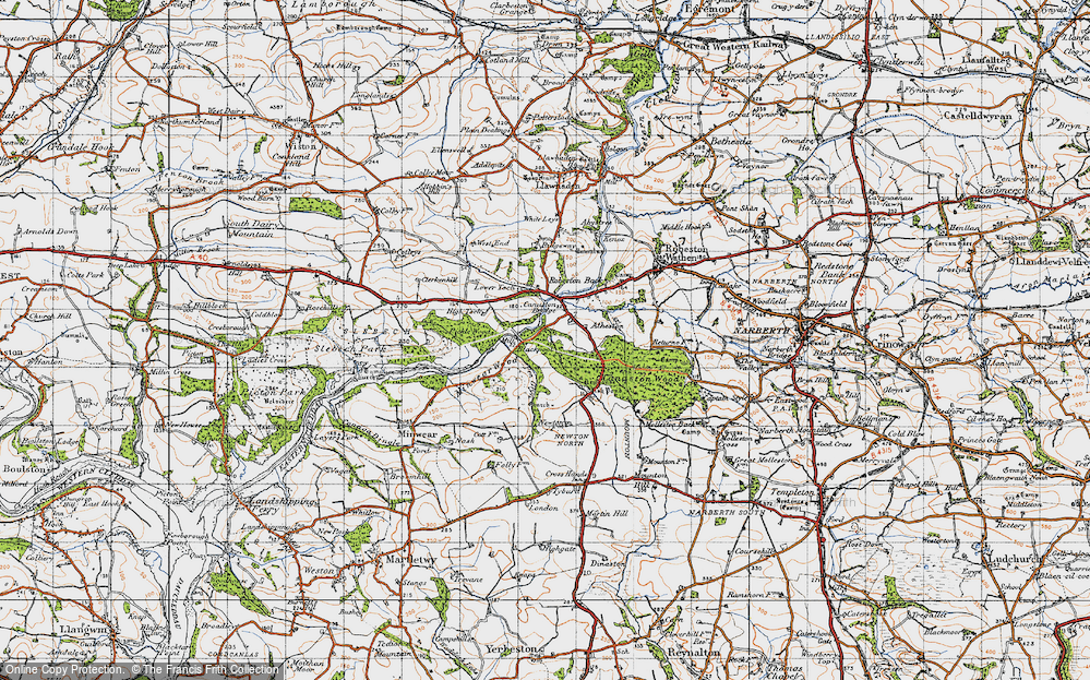 Old Map of Historic Map covering Atheston in 1946