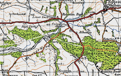 Old map of Atheston in 1946