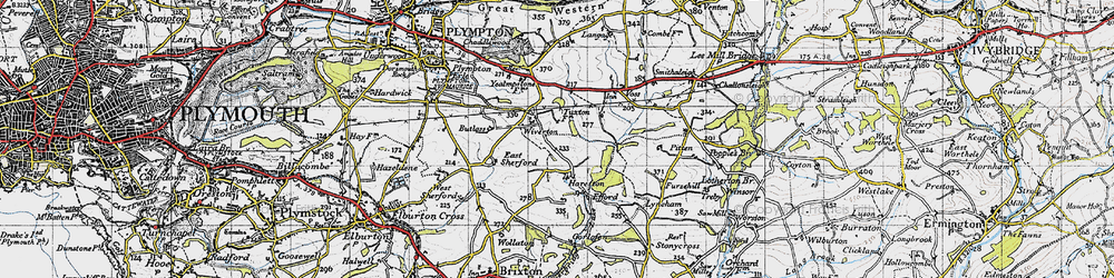 Old map of Wiverton in 1946