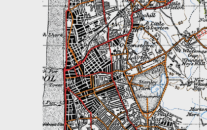 Old map of Blackpool in 1947