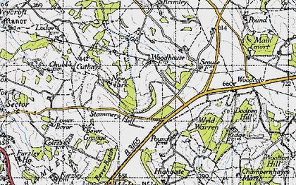 Old map of Wyld Warren in 1945