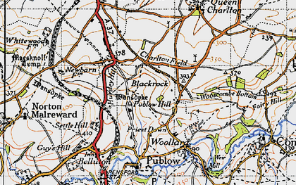 Old map of Blackrock in 1946