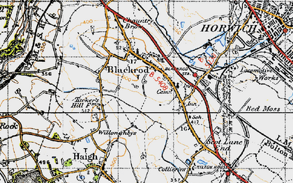 Old map of Blackrod in 1947