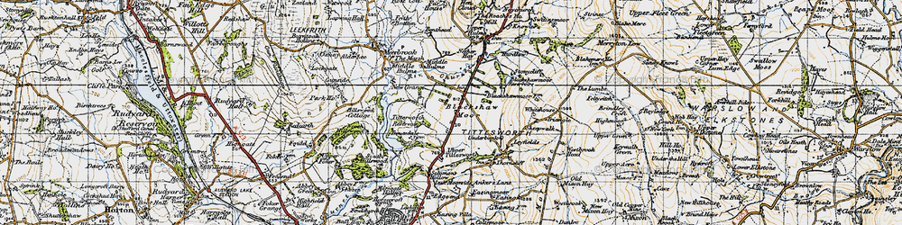 Old map of Tittesworth Reservoir in 1947