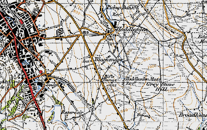 Old map of Blacksnape in 1947