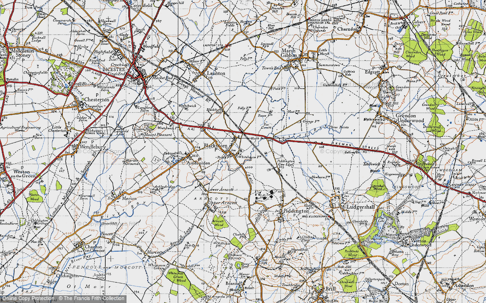Old Map of Blackthorn, 1946 in 1946