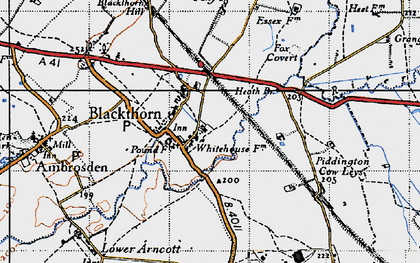 Old map of Blackthorn in 1946
